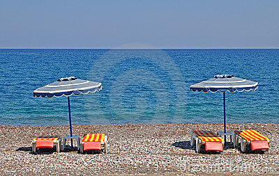 Greek shingle beach