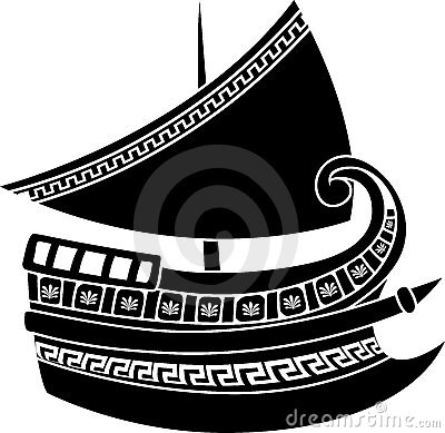 Greek ship stencil