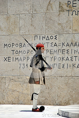 Greek soldier Editorial Stock Image