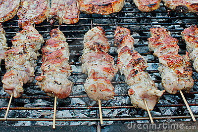 Greek Souvlaki and steaks