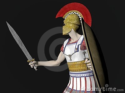 Greek Spartan or Roman Warrior