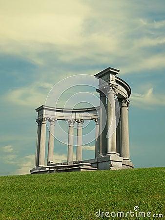 Greek style columns