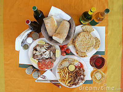 Greek table setting