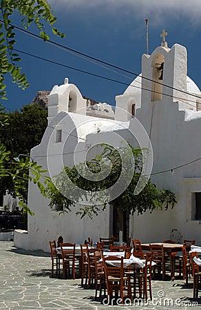 Free Greek Taverna And Church And Monastery Stock Photo - 1024860