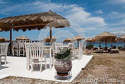 Greek taverna on the beach
