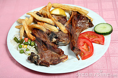 Greek taverna grilled lamb chops