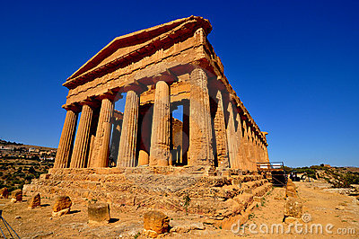 Greek Temple Agrigento Sicilia