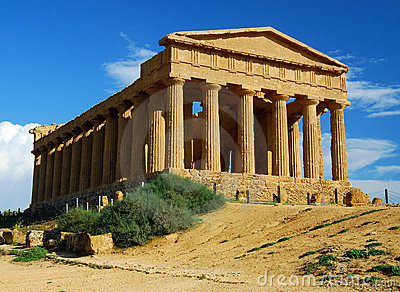 Greek temple in Agrigento / Sicily