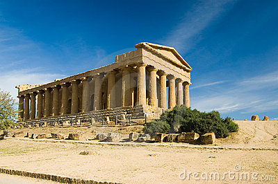 Greek Temple in Agrigento, Sicily