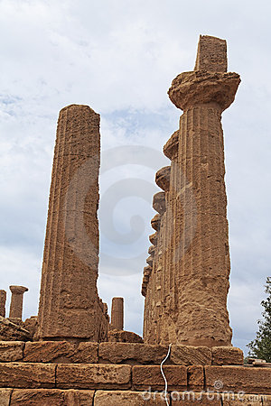 Greek Temple in Agrigento Sicily Italy
