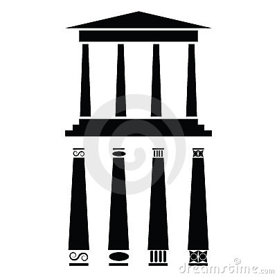 Free Greek Temple Icon Royalty Free Stock Images - 6483149