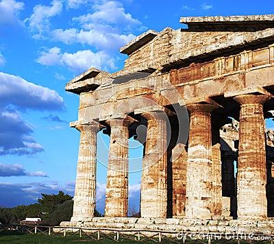 Free Greek Temple In Paestum Royalty Free Stock Image - 8092326