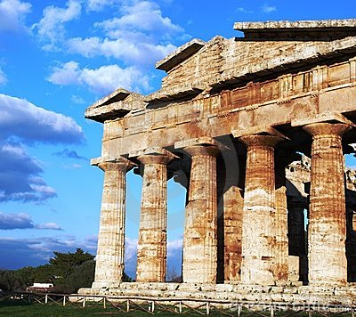 Greek temple in Paestum