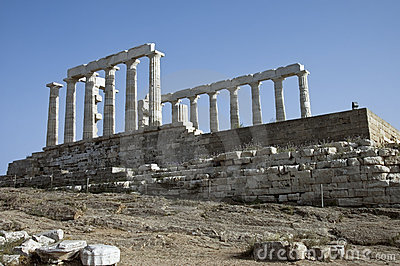 Greek temple scenic view
