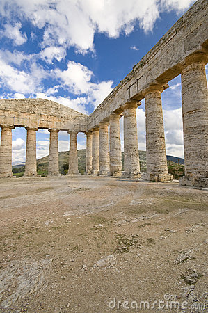 The Greek Temple Sicily Royalty Free Stock Photos - Image: 7767138