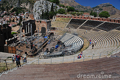 Greek theater taormina Editorial Photo