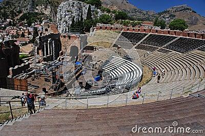 Greek theater taormina Editorial Photo
