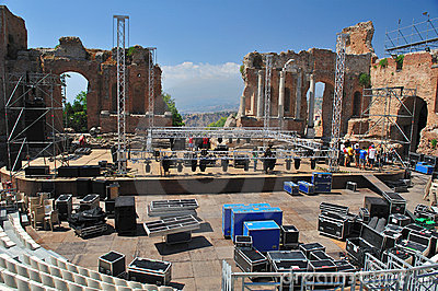 Greek theater taormina 2 Editorial Stock Photo