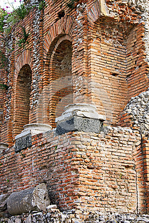 Greek theatre of Taormina: detail