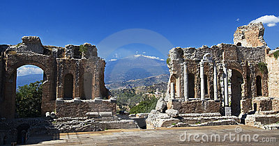 Greek Theatre Taormina Etna