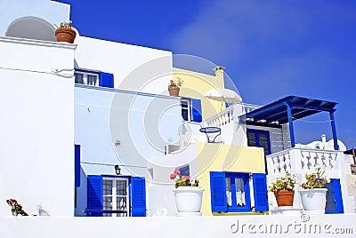 Greek  traditional architecture  in Santorini