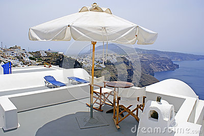 Greek  traditional architecture  in Santorini isla