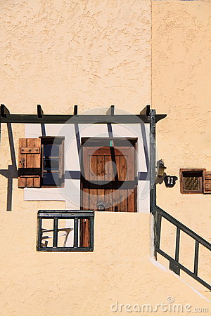 Greek traditional house with shadow play