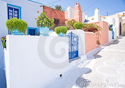 A Greek village street. .