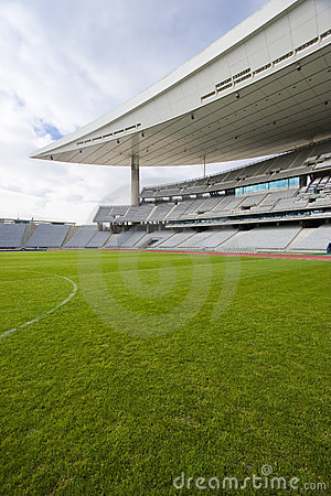 Free Greem Grass And The Stadium Royalty Free Stock Image - 3693476