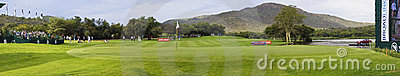 Green on the 17th hole - Gary Player Golf Course Editorial Stock Photo
