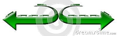 Green 18 wheeler trucks logo