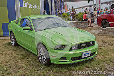 Green 2012 Ford Mustang Editorial Image