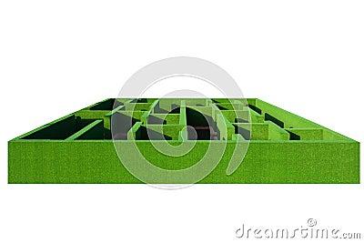 Green 3d maze