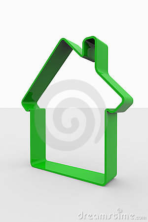 Free Green 3D Sign Of House Royalty Free Stock Photography - 19175407