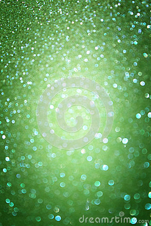 Green abstract background, green bokeh abstract lights