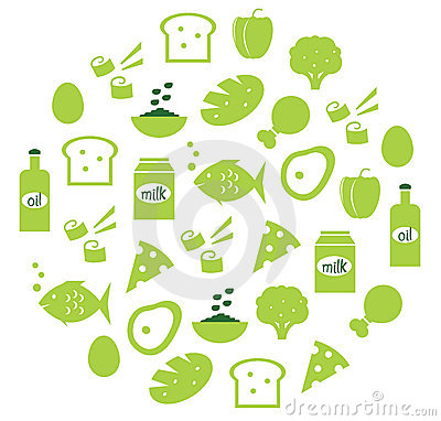 Free Green Abstract Globe With Food Icons Royalty Free Stock Photography - 21518257