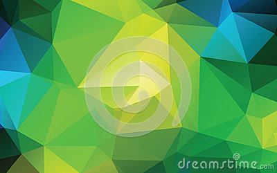 Green Abstract Low Poly Vector Background