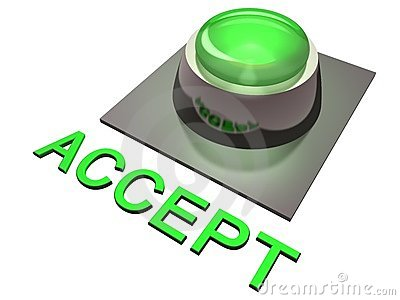 Green accept button