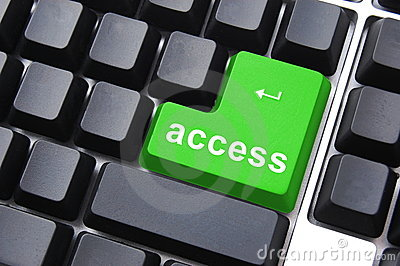 Green access button