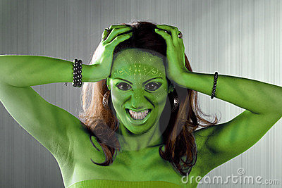 Green Alien Woman