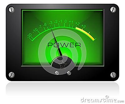 Green Analog Meter