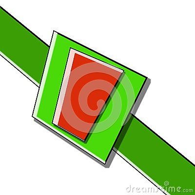 Free Green And Red Gift Ribbon Bow Stock Photo - 107134660