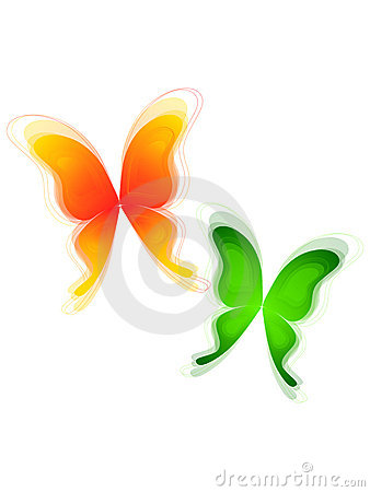 Free Green And Yellow Butterflys Stock Photography - 20685862