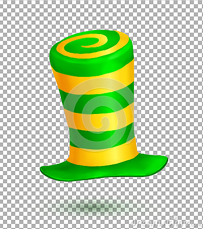 Free Green And Yellow Colors Striped Realistic Vector Carnival Hat Isolated On Transparency Grid Background Royalty Free Stock Photos - 78085888