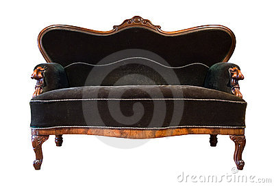 Green antique sofa