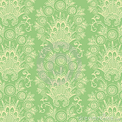Green Antique Vintage Flower background
