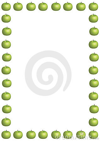 Green Apple Border Large Stock Image - Image: 4420291