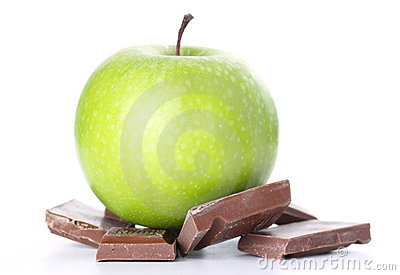 Green Apple and Chocolate Bar