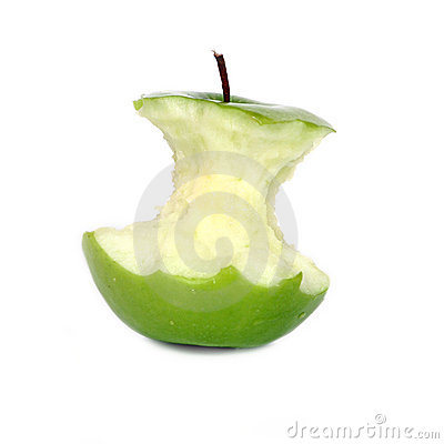 Green apple core