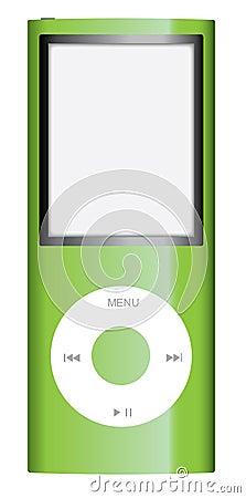 Green apple ipod nano Editorial Stock Image